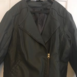 Apt 9 -XL Charcoal Faux Leather Jacket